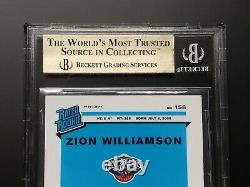2019-20 Zion Williamson Optic Holo Silver Prizm Gem Mint Bgs 9,5 = Psa 10