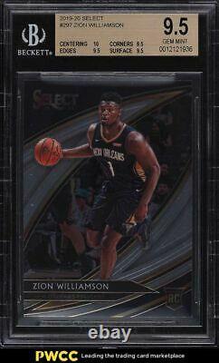 2019 Select Courtside Zion Williamson Rookie Rc #297 Bgs 9.5 Gem Mint