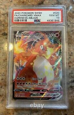 2020 Pokemon Charizard Obscurité Ablaze Vmax 020 Psa 10 Menthe / Bgs 10 Gem