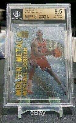 96/97 Fleer Metal Métal En Fusion Michael Jordan Insert Rare Bgs 9,5 Gem Mint