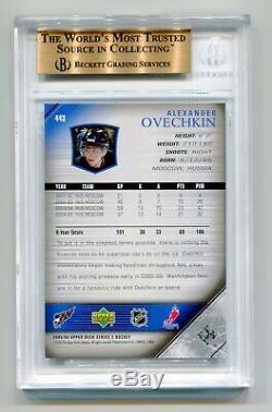 Alex Ovechkin 2005-06 Upper Deck Young Guns Rookie Bgs 9,5 Gem Rc Mint Capitals