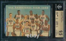 Bgs 9.5 1992 Skybox Olympic Dream Team USA Plastique Michael Jordan Bird Gem Mint+