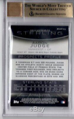 Bgs 9.5 Auto 10 Aaron 2013 Bowman Sterling Juge Prospect Autograph Rc Gem Mint