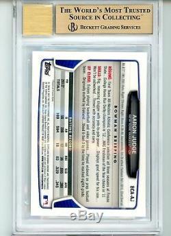Bgs 9.5 Auto 10 Aaron Juge 2013 Bowman Chrome #aj Centrage D'origine Gem Mint
