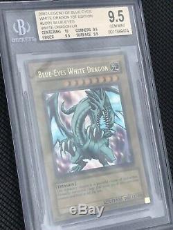 Bgs 9.5 Gem Menthe Dragon Blanc Ondulé Aux Yeux Bleus Lob-001 1re Éd 2e Plus Élevée