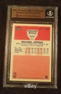 Bgs 9,5 Gem Mint 1986 Fleer Michael Jordan # 57 Subs Rc Rookie 10 / 9,5 / 9,5 / 9