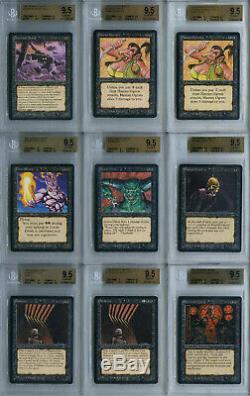 Bgs 9.5 Gem Mint Graded Arabian Nights Ensemble Complet Mtg Magic The Gathering Cards