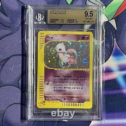 Bgs 9.5 Gem Mint Pokemon Mew Holo Rare 2002 Expédition 19/165 Swirl! Psa