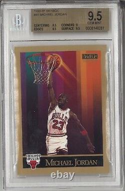 Bgs 9.5 Michael Jordan 1990-91 90-91 Skybox #41 Chicago Bulls Hof Rare Gem Mint