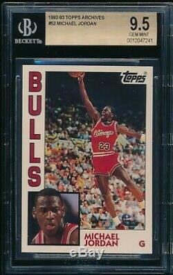 Bgs 9.5 Michael Jordan Archives # 1992-93 52 Topps Bulls Goat Ultra Rare Gem Mint