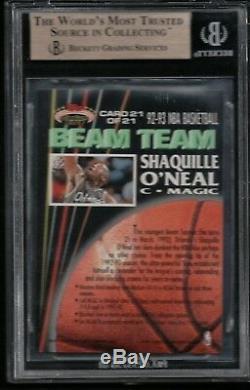 Bgs 9.5 Shaquille O'neal Stadium 1992-93 Du Club Faisceau Équipe # 21 Shaq Rc Hof Gem Mint