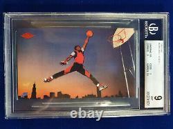 Bgs 9 Mint 1985 Nike Promo Michael Air Jordan Jumpman Logo Rc Gem-center