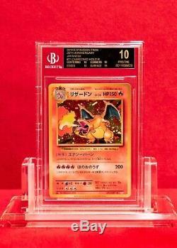 Bgs Pristine 10 Black Label 1er Ed Japonais Charizard Cp6 Psa 10 Gem Mint