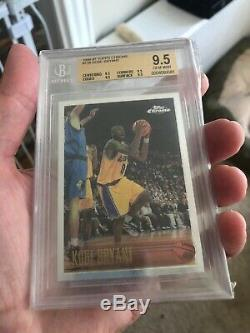 Bryant 1996 Kobe Chrome # 138 Topps Rc Bgs 9.5 Gem Mint (9.5,9.5,9.5,9.5) Psa 10