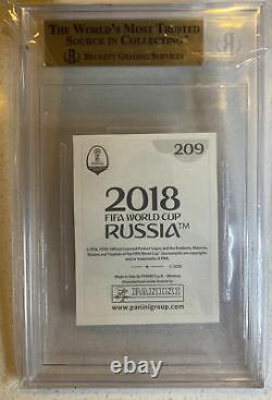 Coupe Du Monde Panini 2018 Kylian Mbappe Rookie Sticker #209 Bgs 9.5 Gem Mint