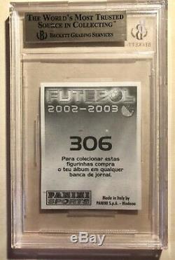 Cristiano Ronaldo 2002-03 Panini Autocollant Carte Rookie Bgs 9,5 Gem Mint