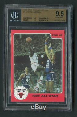 Étoile 1986 Michael Jordan Recrue Rc # 5 Hof Bgs 9.5 Gem Mint