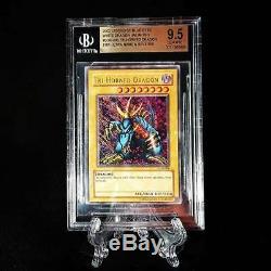 Gem Mint Yugioh Psa Misprint Ultra Tri-horned Dragon Lob-000 Bgs 9,5 Pop 1