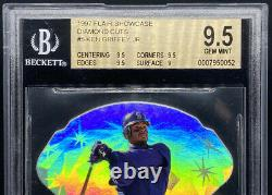 Ken Griffey Jr 1997 Flair Showcase Diamond Cuts Low Pop Gem Mint Bgs 9,5