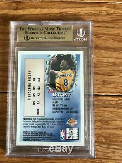 Kobe Bryant 1996-1997 Finest Bronze Bgs Topps 9.5 Card Gem Mint Rookie # 74