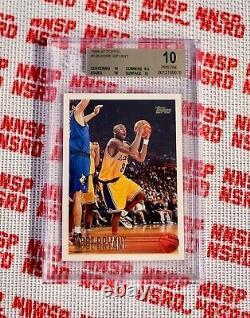 Kobe Bryant 1996-97 Topps #138 Classé Bgs 10 Immaculé Perfect Gem Mint Not Psa