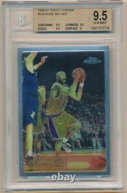 Kobe Bryant 1996/97 Topps Chrome #138 Rc Rookie Card Lakers Sp Bgs 9.5 Menthe Gemme