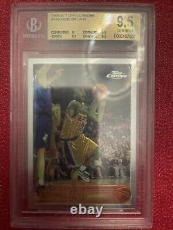 Kobe Bryant 1996-97 Topps Chrome Rookie Bgs 9.5 Gem Mint La Lakers Rc #138 Card