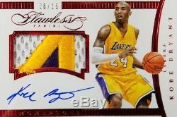 Kobe Bryant Flawless 2014-15 Bgs 9,5 Vrai Bijou Mint 8/15 Portés Jersey 10 Auto