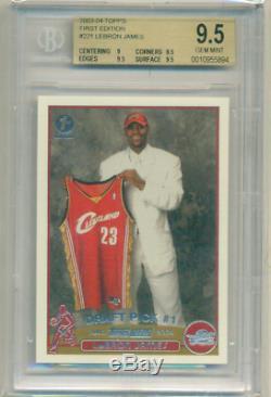 Lebron James 2003-04 # 221 Première Topps Édition Rookie 9.5 Gem Bgs Rc Mint
