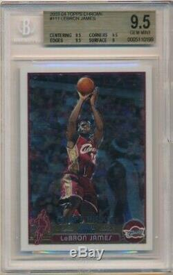 Lebron James 2003/04 Chrome # 111 Topps Rookie Rc Sp Cavaliers Bgs 9,5 Gem Mint
