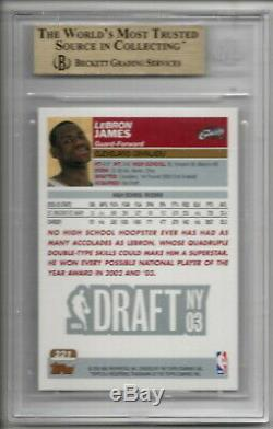 Lebron James 2003-04 Rc # 221 Rookie Topps Cavs Lakers Heat Bgs 9,5 Gem Mint