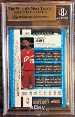 Lebron James 2003-04 Réfracteur Bowman En Chrome Rookie Rc # 97/300 Bgs 9.5 Gem Mint