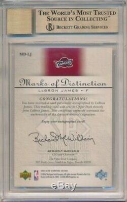 Lebron James 2005/06 Sp Signature Distinction Marques Auto / 40 Bgs 9,5 Gem Mint 10