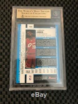Lebron James Bowman 2003-04 Rookie # 123 Rc Bgs 9,5 Gem Mint 10 Centrage