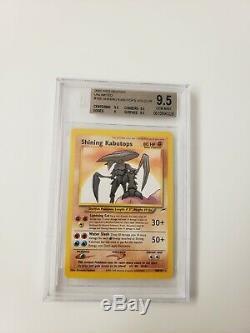 Low Pop Seulement 5! Gem Mint Brillante Kabutops Pokemon Neo Destin Bgs9.5 (psa10)