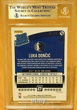 Luka Doncic 2018 Donruss Optic Rookie Choice Red #/88 Ssp Bgs 9.5 Menthe Gemme