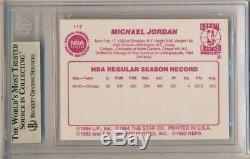 Michael Jordan 1985-1986 Étoiles # 117 Rookie Card Rc Chicago Bulls Bgs 9,5 Gem Mint