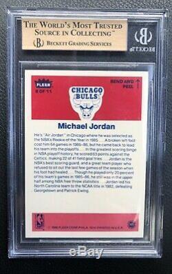 Michael Jordan 1986-1987 Fleer Sticker Rookie Card # 8 Bgs 9,5 Gem Mint Rc