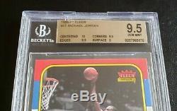 Michael Jordan 1986 Carte Fleer Rookie # 57 Gem Mint Bgs 9,5 10 Centrage