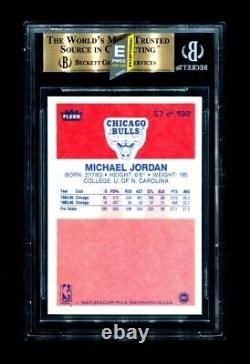 Michael Jordan 1986 Fleer Basketball Rookie Rc #57 Bgs 9.5 Gem Mint (pwcc-e)