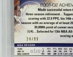 Michael Jordan 2002-03 Topps Réfractaire D'or Immaculé 24/99 Bgs 9.5 Gem Mint Rare