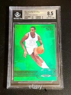 Michael Jordan 2011-12 Fleer Retro Precious Metal Gems Green Pmg /10 Bgs 8.5