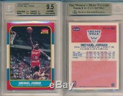 Michael Jordan Bulls 1986 Carte Fleer Rookie Basketball # 57 Bgs 9,5 Gemme Neuf X783