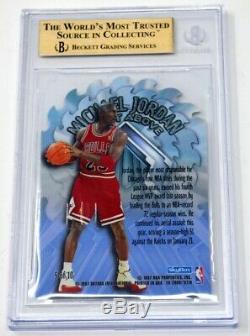 Michael Jordan Mj 1996-1997 Ex E-x2000 A Coupe Au-dessus Insérer Bgs 9,5 Gem Mint Vrai