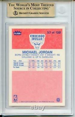 Michael Jordan Rookie Card 1986-87 Fleer #57 Bgs 9.5 Gem Mint Rc