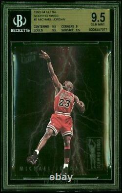 Michael Jordan Scoring Kings 1993-94 Fleer Ultra Bgs 9.5 Gemme Mint Insert Foil