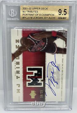 Michael Jordan Ud Mj Hommages Auto G/u Bulls Jersey Patch #/23 Bgs 9.5 Gem Mint+