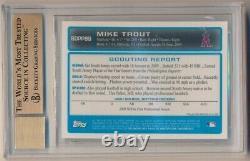 Mike Trout 2009 Bowman Chrome Rc Rookie Autographe Sp Auto Bgs 9.5 Gem Mint 10