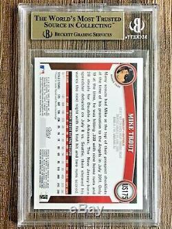 Mise À Jour 2011 Topps Mike Trout Bordure Rouge Cible N ° 175 Rc Sp Bgs 9,5 Gemme Authentique