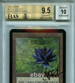 Mtg Alpha Black Lotus Bgs 9.5 Gem Mint Rush Signé Carte Magique Amricons 3480